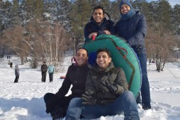 Зимняя развлекательная поездка